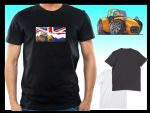 KOOLART CLASSIC BRITISH Design for Caterham Seven 7 mens or ladyfit t-shirt